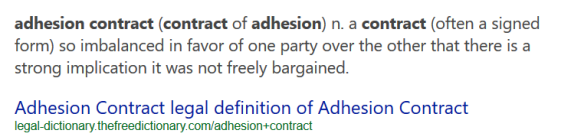 contract of adhesion